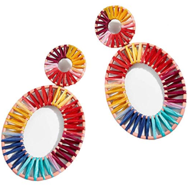 MEYFANCY Raffia Earrings